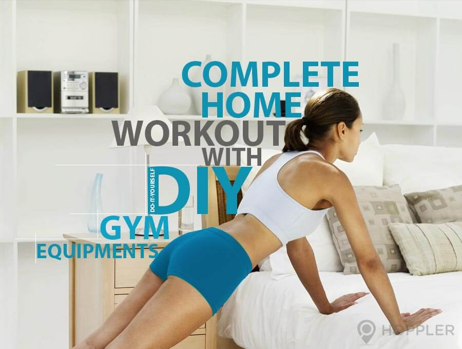 complete home workout with do it yourself gym equipments