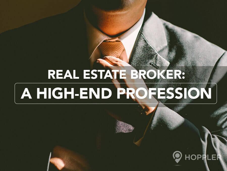 real estate broker a high end profession hoppler