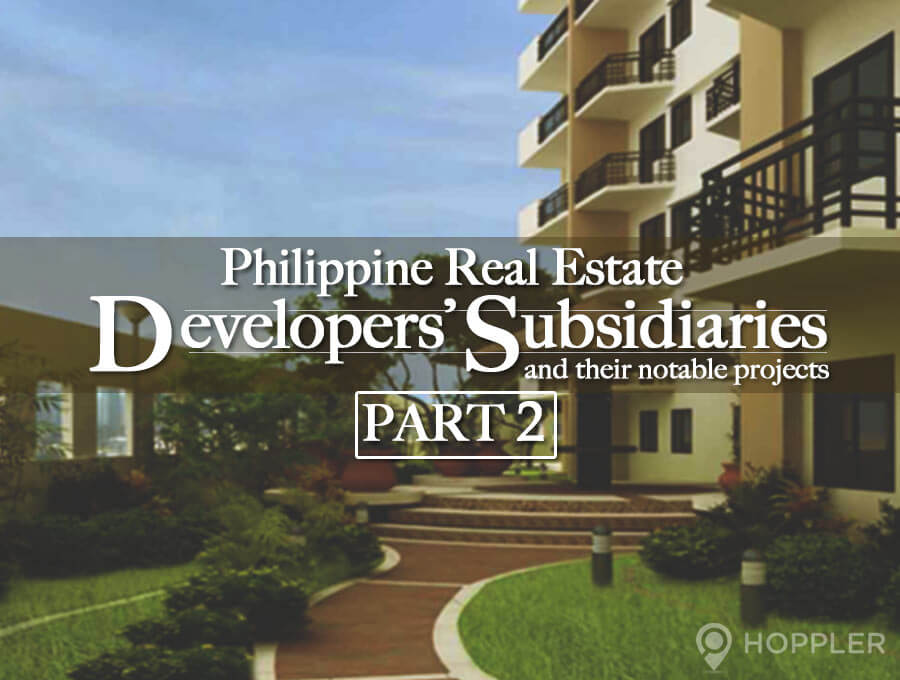 real estate subsidiaries and their notable projects part 2