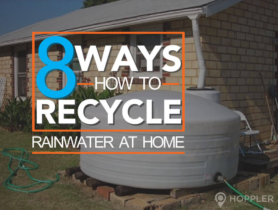 8 ways to recycle rainwater at home