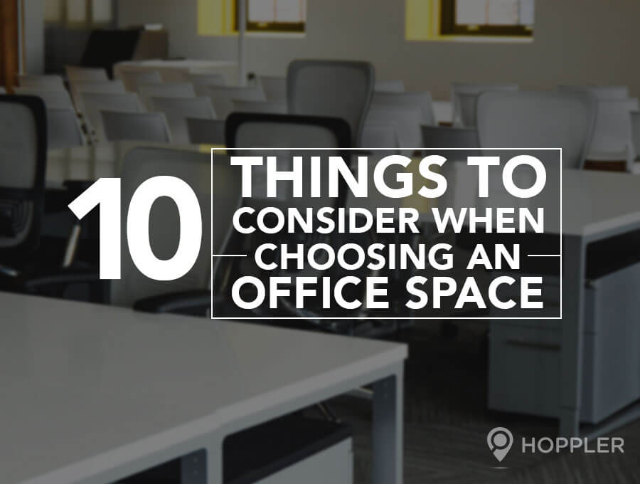 10 Things to Consider When Choosing an Office Space