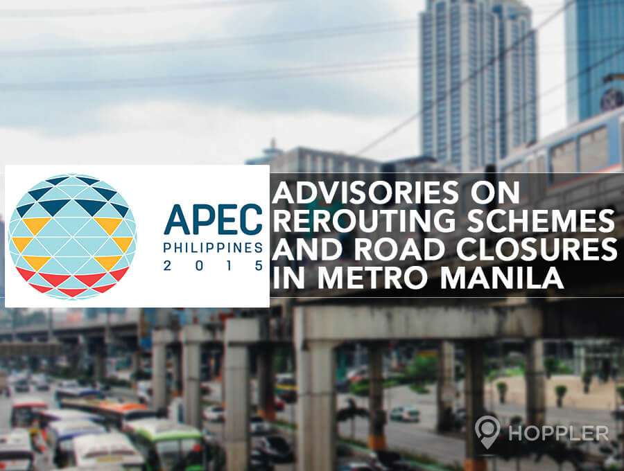 APEC Advisories on Rerouting Schemes and Road Closures in Metro Manila