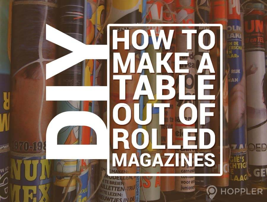 how to make a table out of magazines