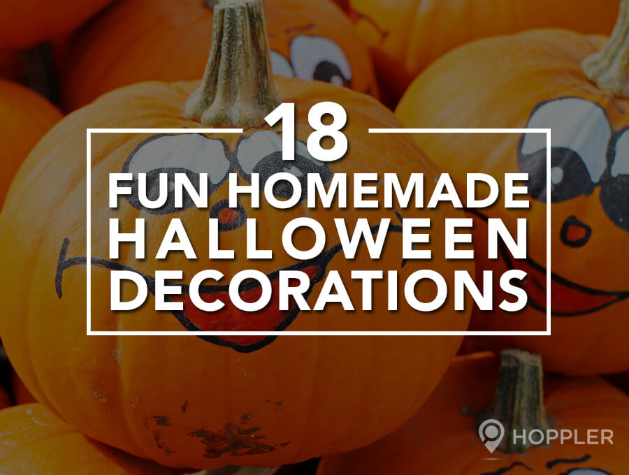18 fun homemade halloween decorations - Interesting diy halloween wreaths home ...